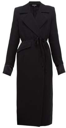 Ann Demeulemeester Asymmetric Wool Blend Twill Coat - Womens - Black