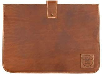 MAHI Leather - Stockholm MacBook Sleeve in Vintage Brown Leather