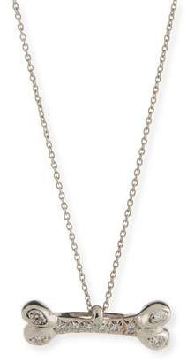 Roberto Coin Dog Bone Pendant Necklace with Diamonds