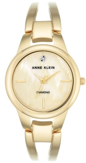 Anne Klein Women's Anne Klein Diamond Oval Bangle Watch, 32Mm