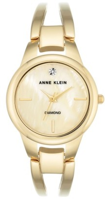Women's Anne Klein Diamond Oval Bangle Watch, 32Mm $65 thestylecure.com