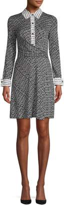 Diane von Furstenberg Long Sleeve Shirt Wrap Dress