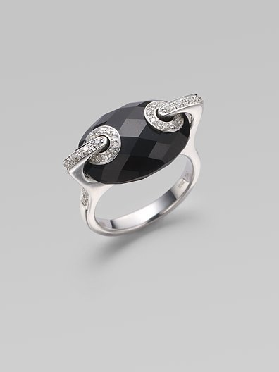 H2 at Hammerman Black Onyx, Diamond & 18K White Gold Ring