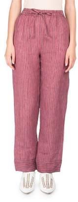 Acne Studios Marceline Drawstring Striped Straight-Leg PJ Pants