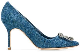 Manolo Blahnik Hangisi Tweed 50 pumps