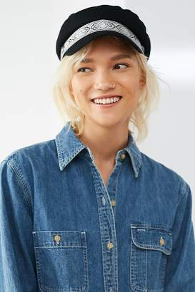 Urban Outfitters Brocade Trim Lieutenant Hat