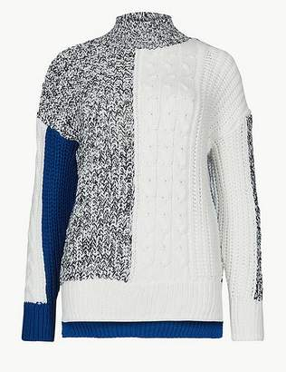 Marks and Spencer Cable Knit Turtle Neck Jumper