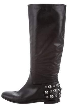 Gucci Studded Knee-High Boots