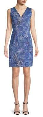 Elie Tahari Emory Printed Sheath Dress