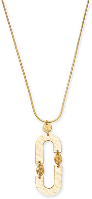 """INC International Concepts I.n.c. Gold-Tone Link Pendant Necklace, 28"""" + 3"""" extender, Created for Macy's"""