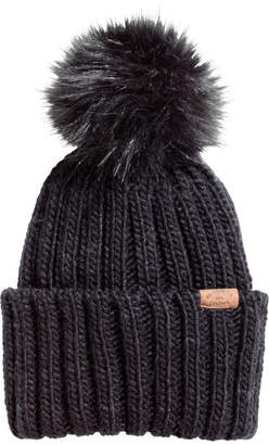 H&M Cable-knit hat - Black