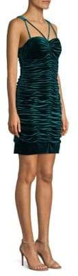 Aidan Mattox Ruched Velvet Mini Dress