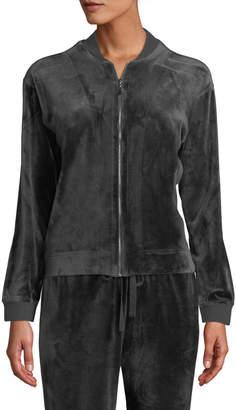 Natori Velour Zip-Front Jacket