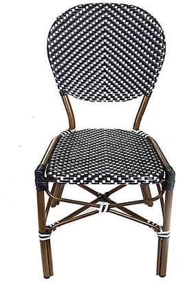 Tiab Inc. Café Outdoor Bistro Side Chair - Black/White