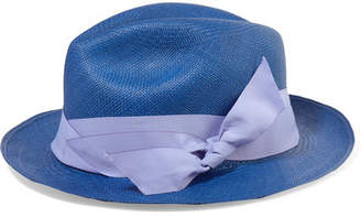 b183752d474 ... Sensi Studio - Toquilla Straw Panama Hat - Blue