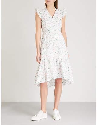 Claudie Pierlot Floral-print ruffled cotton dress