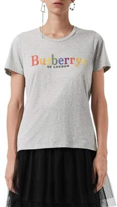 Burberry Clumber Flocked Logo Tee