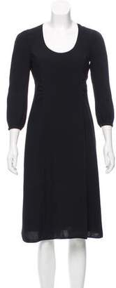 Marc Jacobs Long Sleeve Midi Dress