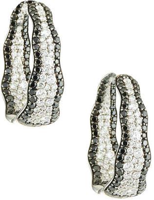 Roberto Coin 18k Two-Tone Diamond Hoop Earrings
