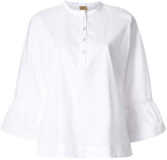 Fay flared-sleeve blouse