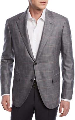 Ermenegildo Zegna Windowpane Wool-Blend Jacket