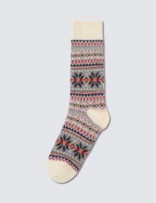 Tabio Men's Fair Isle Snow Pattern Socks