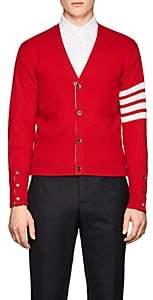 Thom Browne Men's Block-Striped Cashmere Cardigan - Red