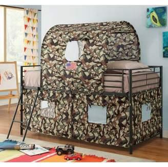 LOFT Coaster Company Coaster Camouflage Tent Twin Metal Bed, Black