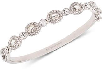 Givenchy Silver-Tone Crystal & Stone Bangle Bracelet