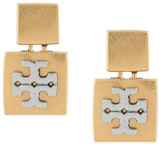 Tory Burch double square logo earrings