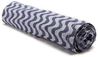 FRESCOBOL CARIOCA Copacabana wave-jacquard linen towel