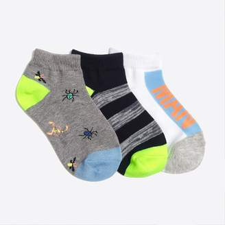 J.Crew Factory Boys' bug-the-man ankle socks three-pack