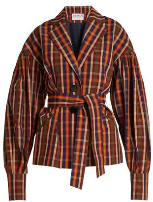 Osman Francois Toybox single-breasted checked jacket