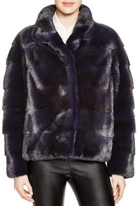 Maximilian Furs Maximilian Grooved Mink Fur Coat