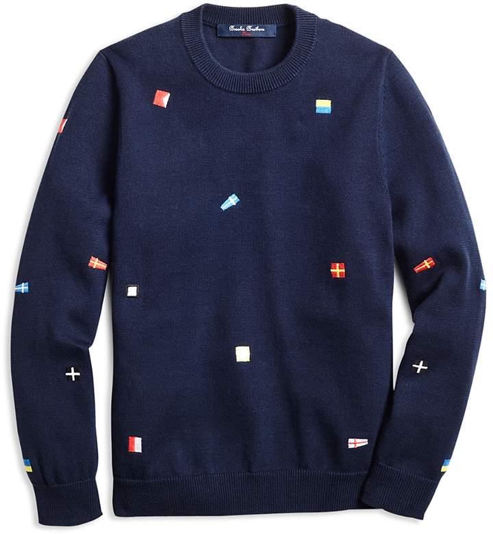 Boys' Embroidered Nautical Flag Sweater - Big Kid
