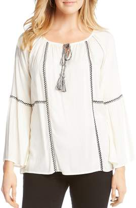 Karen Kane Embroidered Peasant Blouse