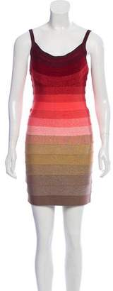 Herve Leger Babette Mini Bandage Dress