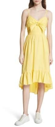Joie Clorinda Tie Front Cutout Cotton Dress