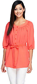 Linea by Louis Dell'Olio Peasant Top withBelt