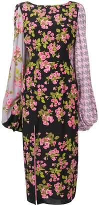 Natasha Zinko floral long-sleeve dress