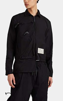 A-Cold-Wall* Men's Tech-Taffeta Zip-Front Shirt - Black