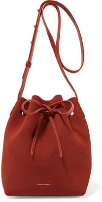 Mansur Gavriel - Mini Suede Bucket Bag - Brick $495 thestylecure.com