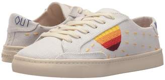 Soludos Embroidered Sun Sneaker Women's Lace up casual Shoes