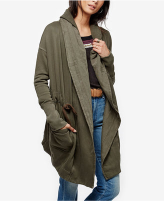 Free People Brentwood Belted Hooded Cardigan $148 thestylecure.com