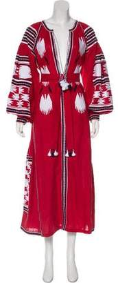 Vita Kin Linen Embroidered Dress