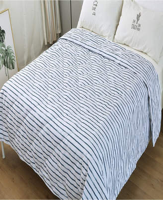 St. James Home Soft Cover Nano Feather Filled Blanket Full/Queen stripe Bedding