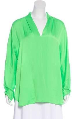 Ralph Lauren Long Sleeve V-Neck Blouse w/ Tags