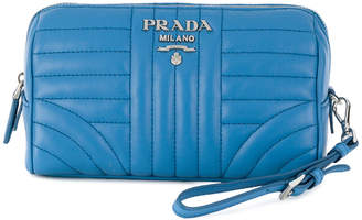 Prada quilted zip make-up bag