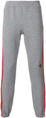 MSGM knitted side stripe track pants