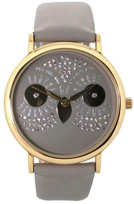 OLIVIA PRATT Olivia Pratt Owl Unisex Gray Bracelet Watch-15525grey